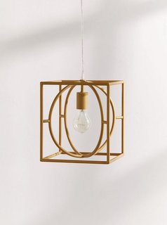 Urban Outfitters Adele Caged Square Pendant Light