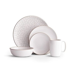 Heath Ceramics Camellia Opaque White Dinnerware Set