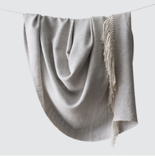 The Citizenry Diamanta Dove Grey Throw