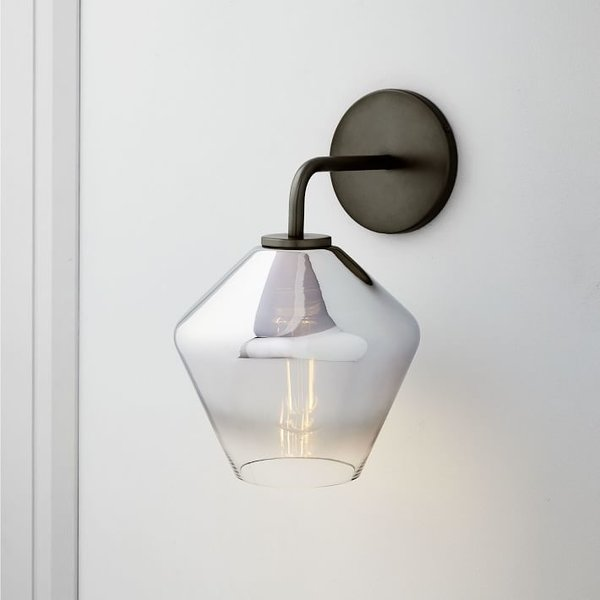 West Elm Sculptural Glass Geo Sconce - Metallic Ombre