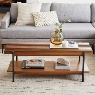 West Elm Slatted Wood Coffee Table