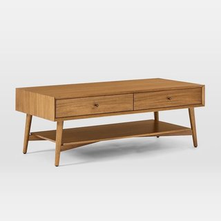West Elm Mid-Century Storage Coffee Table - Acorn