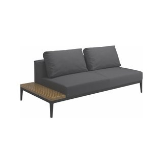 Gloster Grid Meteor Outdoor Lounger End Table Unit