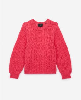 The Kooples Pink Mohair Sweater With Crew Neck