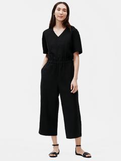 Eileen Fisher Tencel & Organic Linen Slub Jumpsuit