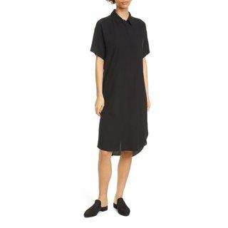 Eileen Fisher Classic Collar Silk Shirtdress