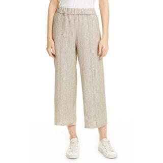 Eileen Fisher Wide Leg Crop Organic Linen Pants