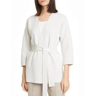 Eileen Fisher Silk & Organic Cotton Belted Cardigan