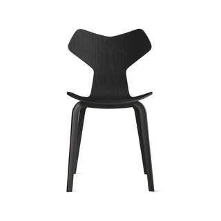 Fritz Hansen Grand Prix Chair With Wood Legs