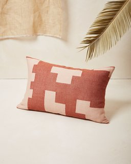 MINNA Puzzle Lumbar Pillow Terracotta