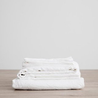 Cultiver White Linen Sheet Set With Pillowcases