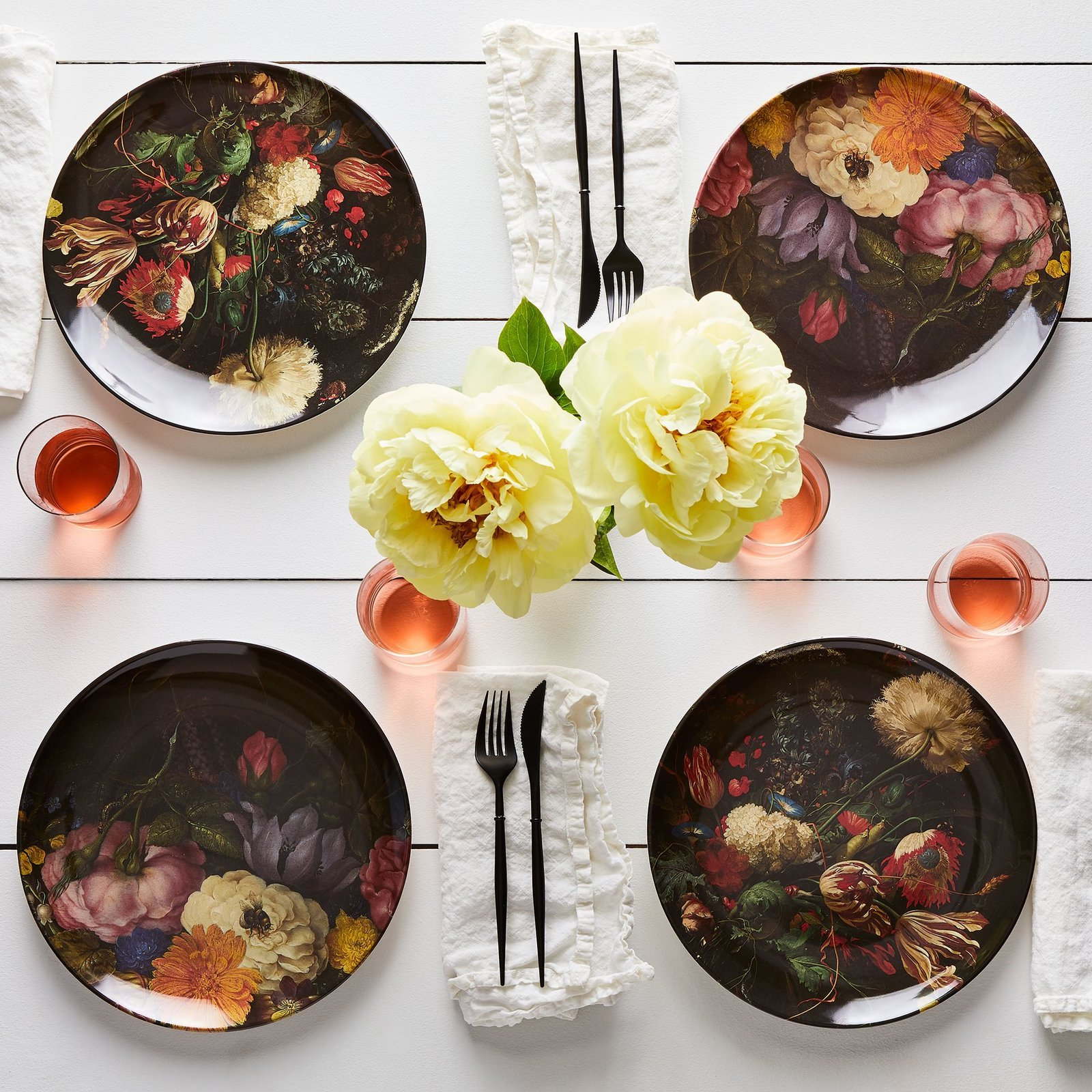 Siren Song Floral Print Melamine Plates (Set of 4)