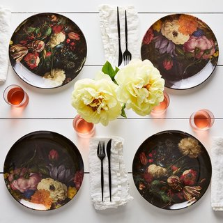 Siren Song Floral Print Melamine Plates (Set of 4)