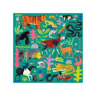 Galison Rainforest Animals 500 Piece Family Puzzle