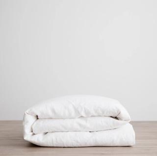 Cultiver White Linen Duvet Cover