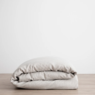 Cultiver Smoke Gray Linen Duvet Cover