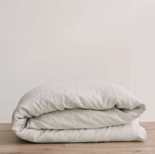 Cultiver Pinstripe Linen Duvet Cover