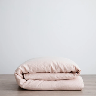 Cultiver Blush Linen Duvet Cover