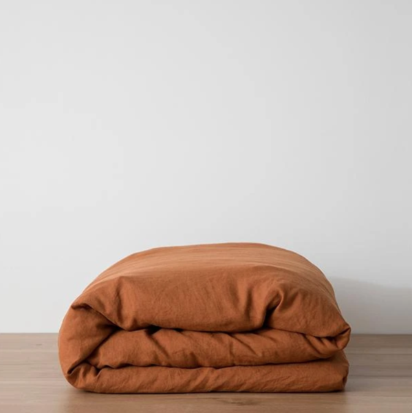 Cultiver Cedar Linen Duvet Cover