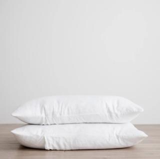Cultiver White Set of 2 Linen Pillowcases