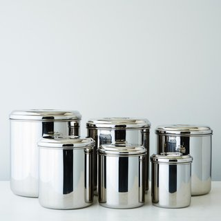 Onyx Stainless Steel Canisters (Set of 6)
