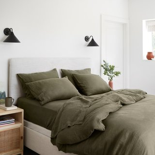 The Citizenry Stonewashed Linen Duvet Cover