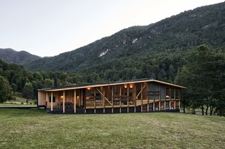 A Cantilevered Home in Southern Chile Takes Design Cues From Lake, Trees, and Sky