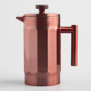 World Market Brushed Copper French Press