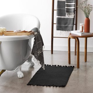 The Citizenry Agara Bath Mat - Black