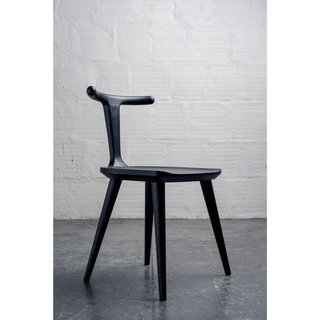 Fernweh Woodworking Charcoal Ash Oxbend Chair