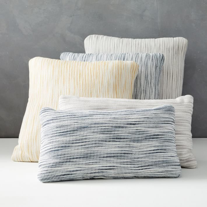 West Elm Outdoor Striated Pillow