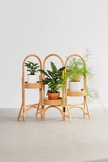 Urban Outfitters Rattan Plant Stand