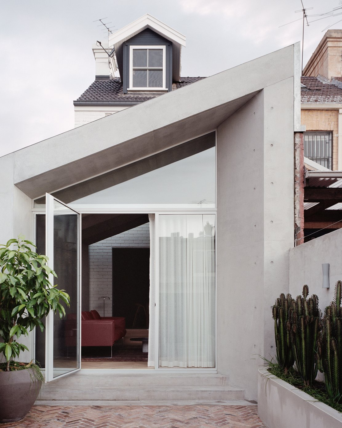 Doors, Exterior, and Swing Door Type  Photo 1 of 16 in A Revamped Terrace House in Sydney Is an Audiophile's Dream