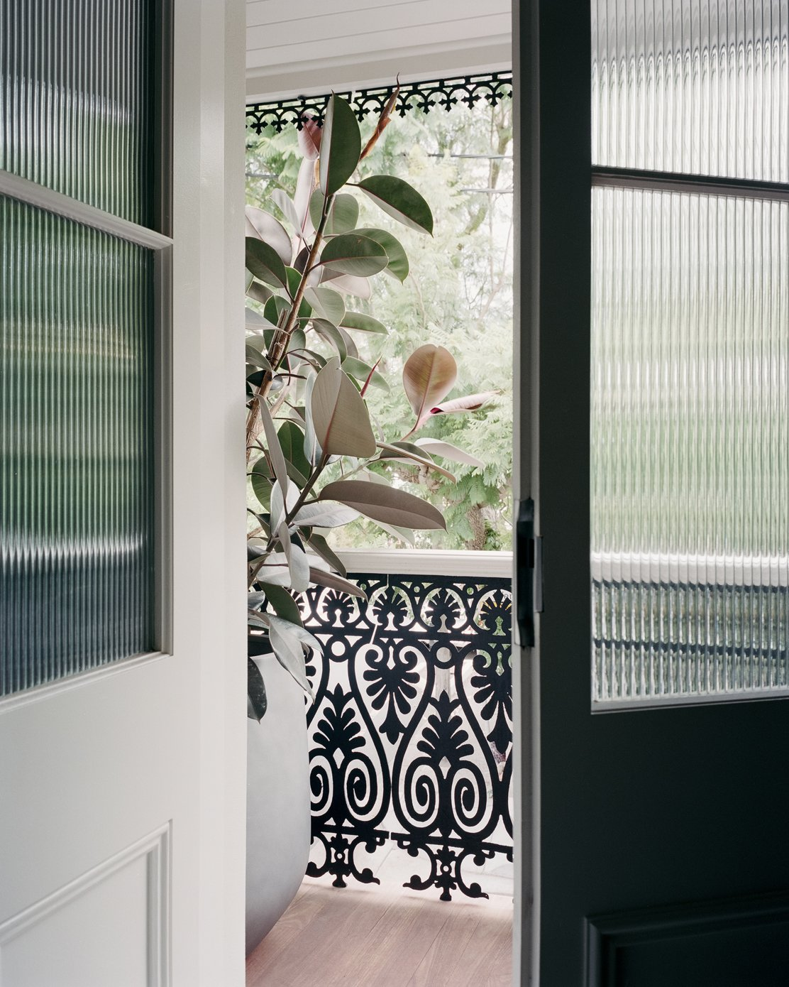Doors, Swing Door Type, Wood, and Interior  Photo 16 of 16 in A Revamped Terrace House in Sydney Is an Audiophile's Dream