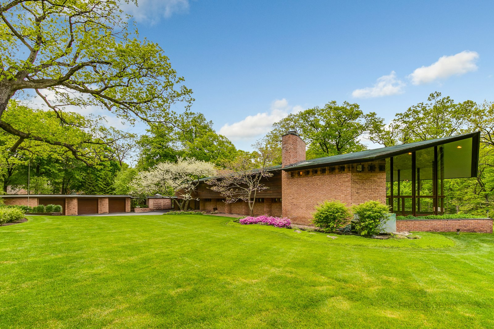 Exterior  Photo 1 of 23 in This Recently Listed Frank Lloyd Wright Home Is a Refreshing Blend of Old and New