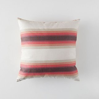 Anthropologie Banded Pomegranate Outdoor Pillow