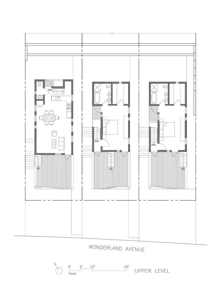 Wonderland Houses upper level floor plan