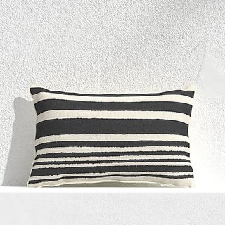 Crate and Barrel Mohave Wide Stripe Outdoor Pillow