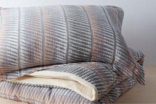 Allswell Organic Matelasse Feather Stripe Duvet Cover Set