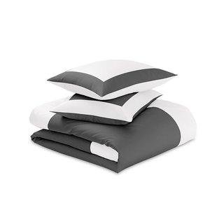 Riley Reversible Color Block Sateen Duvet Cover & Shams Set