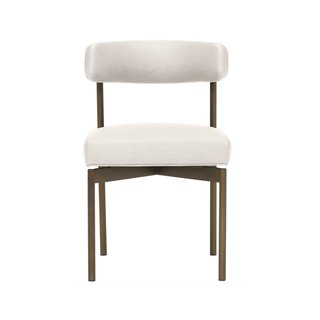 Mitchell Gold + Bob Williams Remy Chair in Brushed Brass