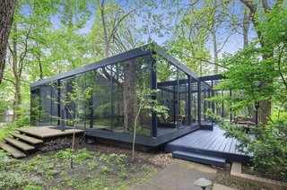 A Blackened Steel and Glass House Outside of Chicago Hits the Market for $825K