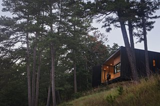 This Charred-Cypress Cabin Is Ideal for Drinking In a Stunning Ozarks View