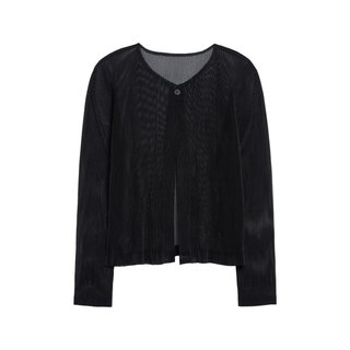 Pleats Please Issey Miyake Tatami April Pleated Mesh Cardigan