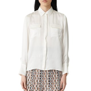 Maje Button-Up Silk Shirt