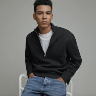 Everlane The No-Sweat Half-Zip Sweater