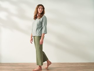 Coyuchi Women's Solstice Organic Wide Leg Crop Pant