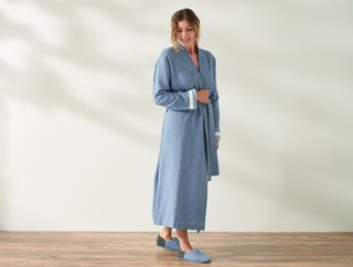 Coyuchi Unisex Mediterranean Organic Modern Robe