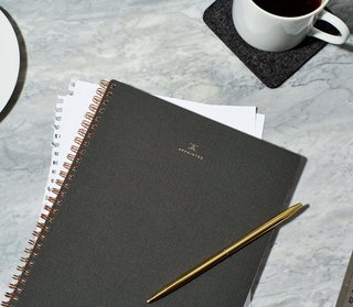 Appointed Notebook & Brass Page Markers Set