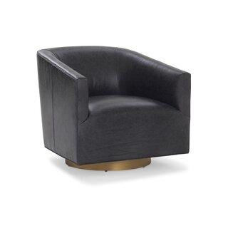 Mitchell Gold + Bob Williams Cooper Studio Leather Swivel Chair